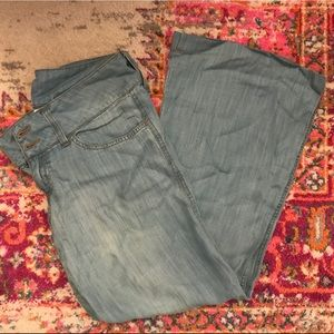 Anthropologie Elevenses Wide Leg Lightweight Jeans